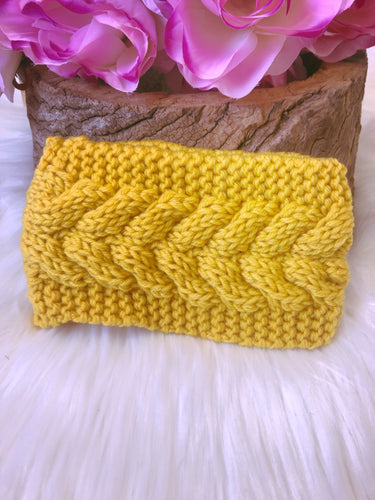 Hallie Head Warmer Yellow - Bucklicious Designs