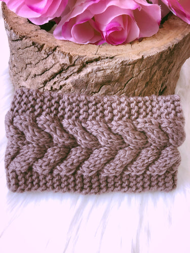 Hallie Head Warmer Mocha - Bucklicious Designs