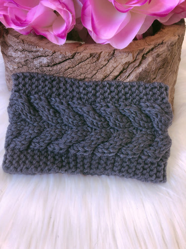 Hallie Head Warmer Gunmetal Grey - Bucklicious Designs