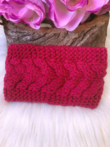 Hallie Head Warmer Hot Pink - Bucklicious Designs