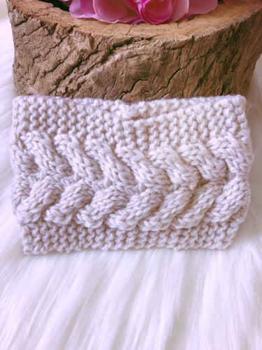 Hallie Head Warmer Cream - Bucklicious Designs