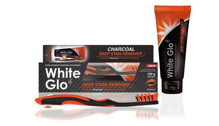 Toothbrush Charcoal Toothpaste + Brush -White Glo
