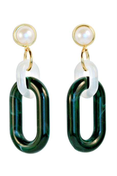 DOMINIQUE Pearl Link Earring