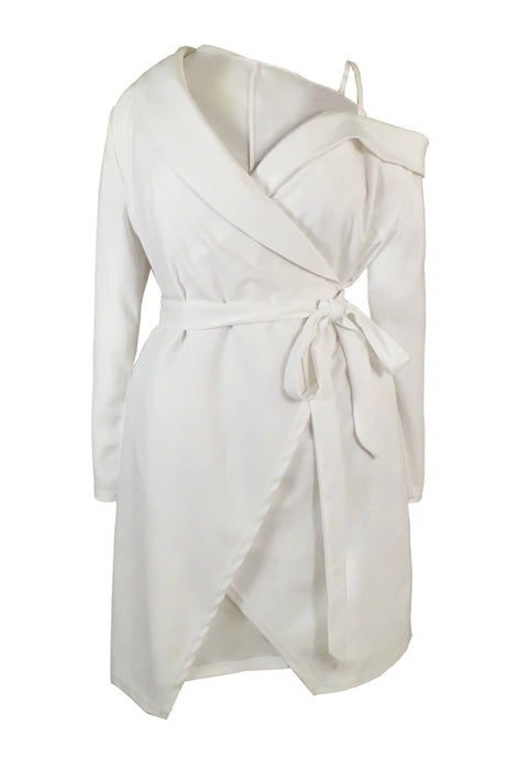 DOHA Asymmetrical Cold Shoulder Wrap Dress