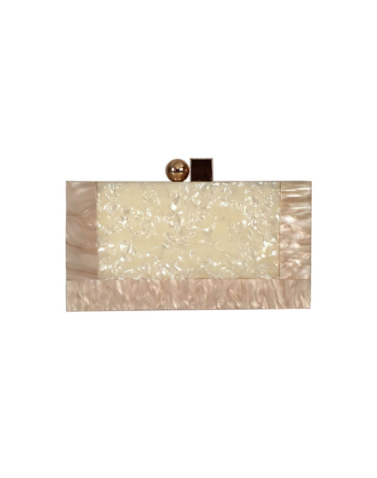 AGO BAY Pearl Resin Clutch
