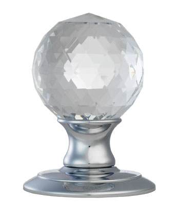 Ice Facetted Crystal Knob