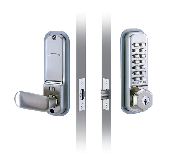 CL255 - MORTICE LATCH WITH KEY OVERRIDE -  Premium light duty mechanical lock with mortice latch and key override option.