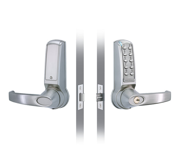 CL4010  - ELECTRONIC TUBULAR LATCH- Fully programmable on the door via the keypad with a multiple range of functions.