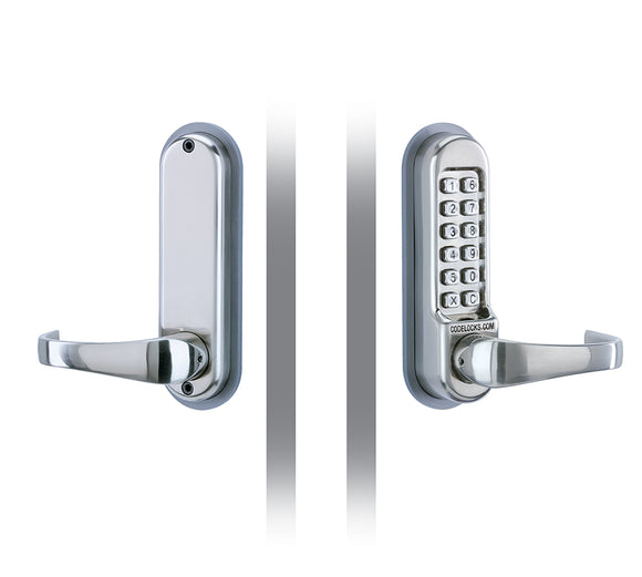 CL500 & CL505  - FRONT AND BACK PLATES ONLY - with large full size lever handles, allowing use as the primary lock on doors.- Use with existing mortice latch or lock.