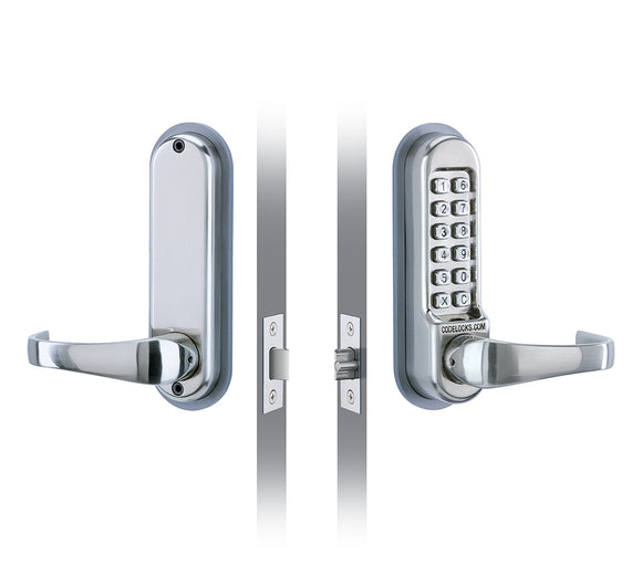 CL510 & CL515  -  HEAVY DUTY MECHANICAL TUBULAR MORTICE LATCH- full size lever handles and code free option.