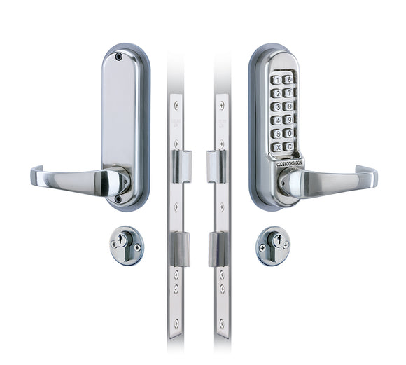 CL520 & CL525  - MORTICE LOCK WITH DOUBLE CYLINDER -  Heavy duty mechanical locks with code free option. Euro profile mortice sash lock with deadbolt and latchbolt.