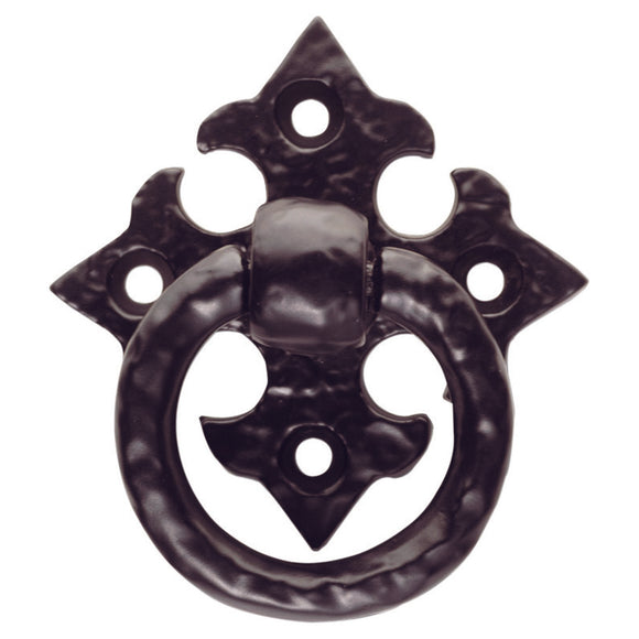 Ring Pull on Gothic Cross Backplate