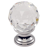 Clear Faceted Knob