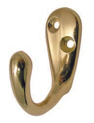 HARCOURT SINGLE HOOK POL BRASS