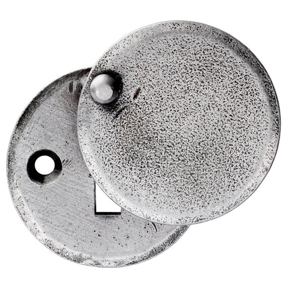 Hand Forged Pewter Escutcheon
