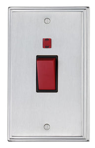 45 amp Cooker Switch Double Plate