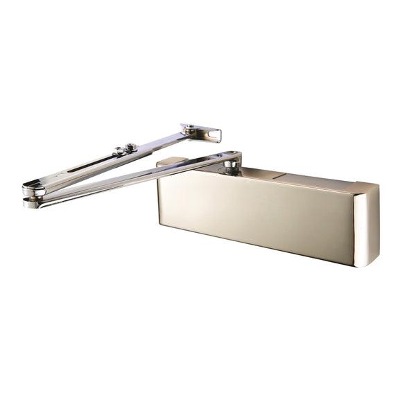 (DCV2025BC) OVERHEAD DOOR CLOSER EN2-5 BY SPRING C/W BACK CHECK C/W FIG 6 BRACKET EN1154 - POLISHED NICKEL