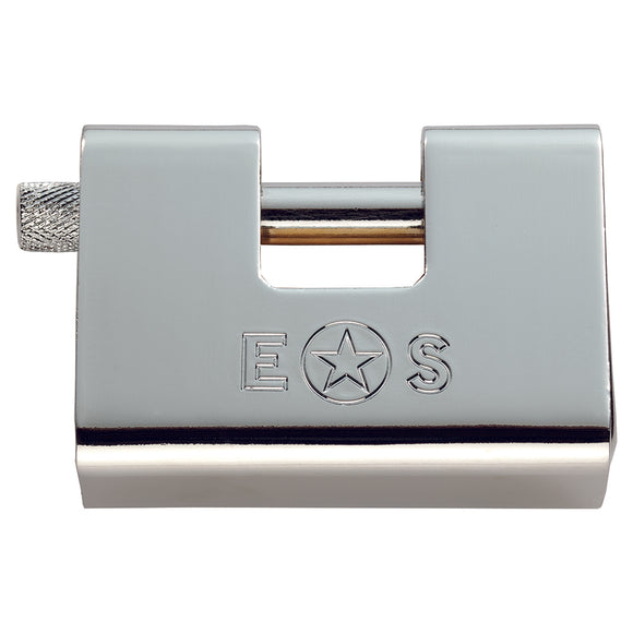 80MM ARMOUR BLOCK STAINLESS STEEL PADLOCK 3 KEYED TO DIFFER