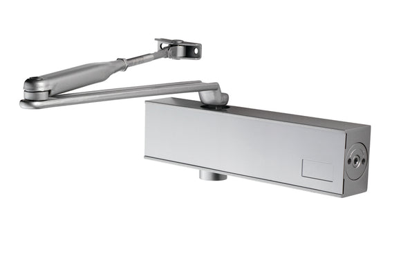 OVERHEAD DOOR CLOSER VARIABLE POWER SIZE 2-6 C/W BACKCHECK & FIG 66 BRACKET