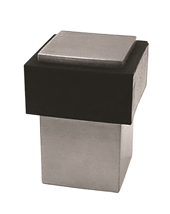 STEELWORX SQUARE FLOOR DOOR STOP -SATIN