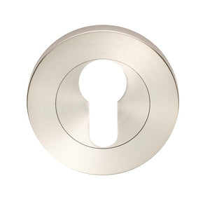 STEELWORX - ESCUTCHEON EURO PROFILE ON CONCEALED FIX THREADED ROUND ROSE 53 X 8MM - GRADE 316 SATIN