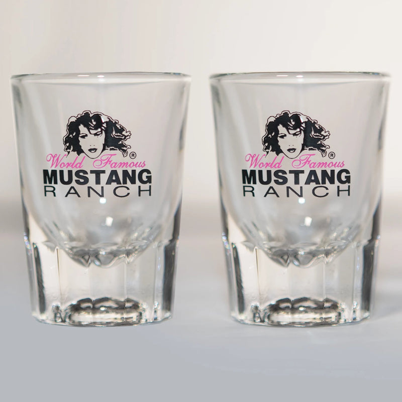 Premium Official Mustang Ranch Short Shot Glasses - Set of two
