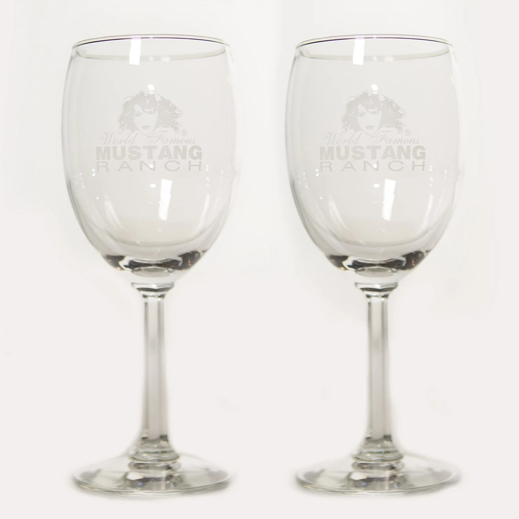 Stemmed Wine Glass - Frosted Logo (set of 2)
