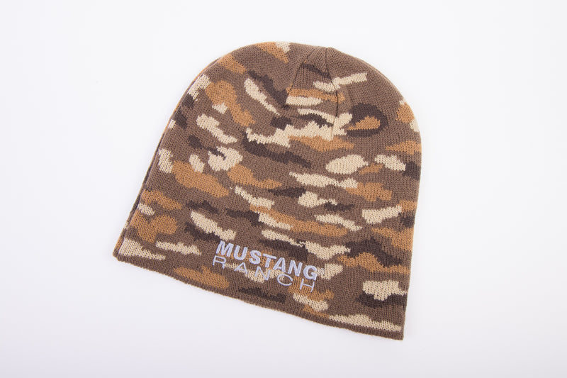 Beanie - Knit Embroidered MUSTANG RANCH® Logo