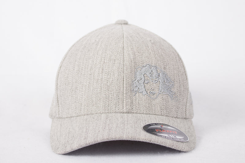 "Grey or Black ""FLEXFIT"" Cap - Embroidered Split Logo"