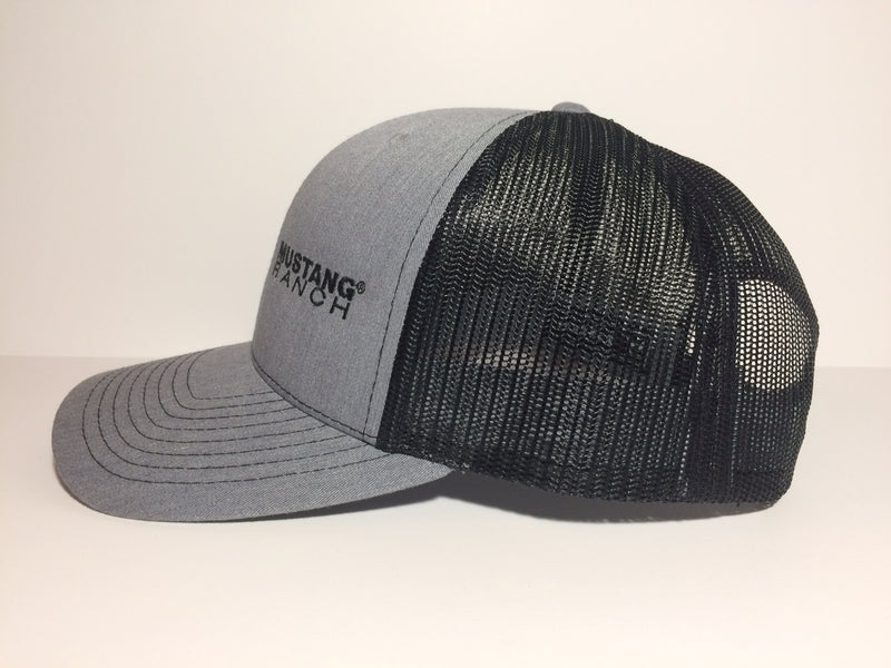Grey & Black Twill Cap - Embroidered Split Logo