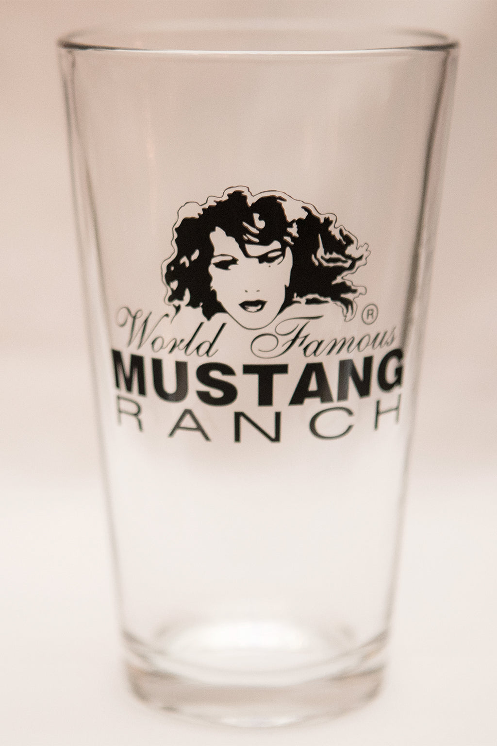 Premium Official Mustang Ranch Pint Glass - Black