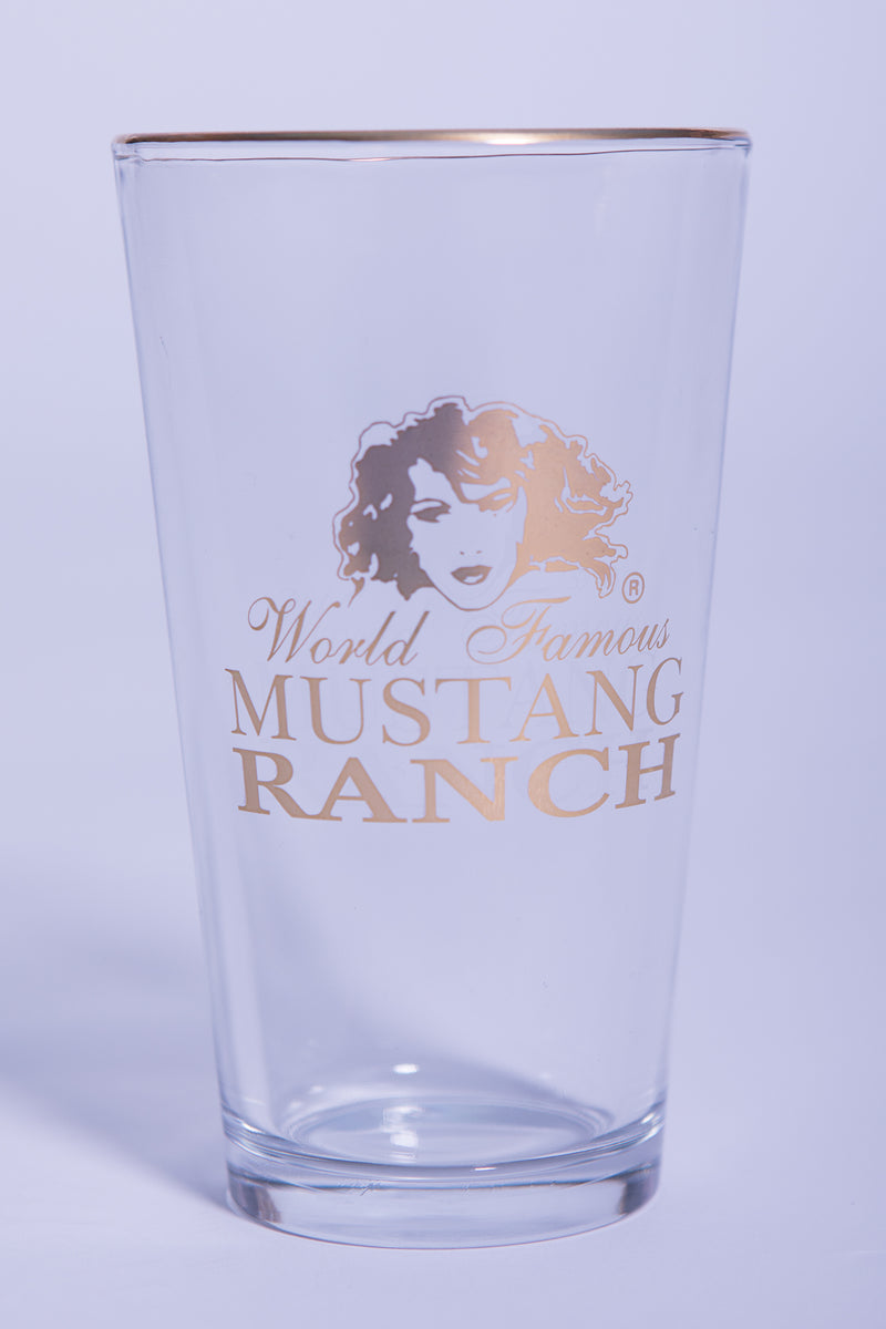 Pint Glass - Gold Logo