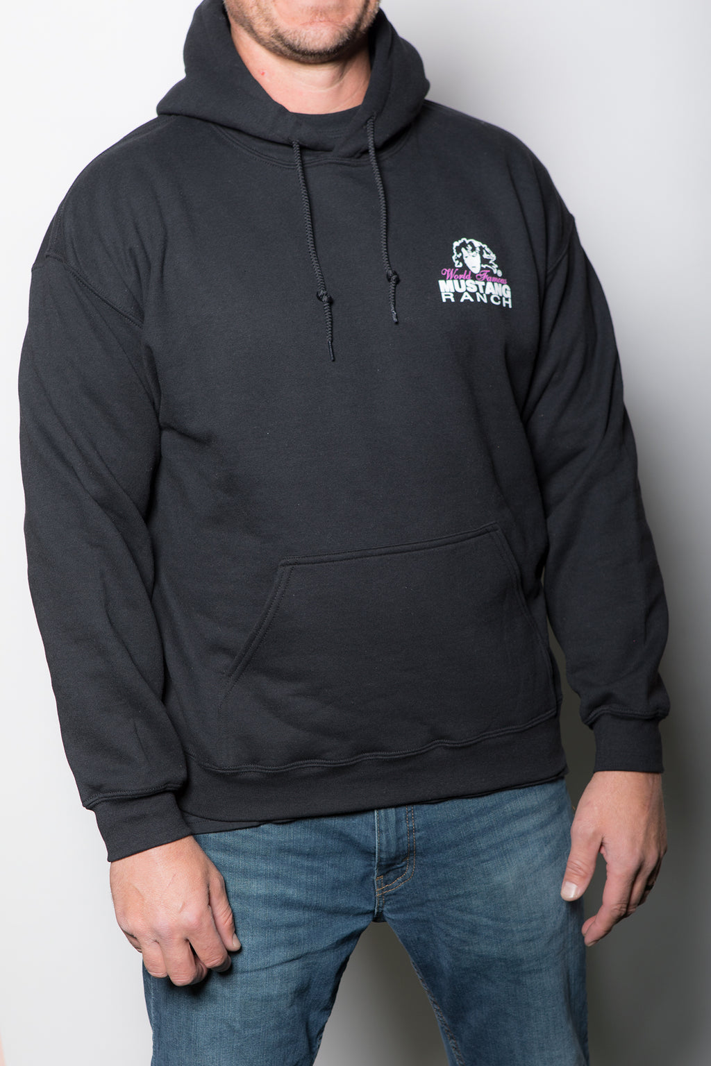 Unisex Hoodie with Mustang Ranch Logo