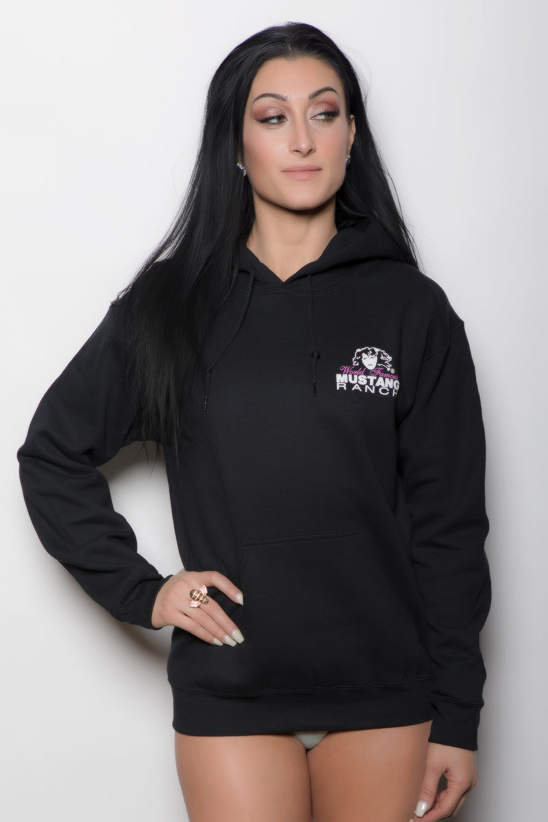 Unisex Pull-over Hoodie with Mustang Ranch Logo