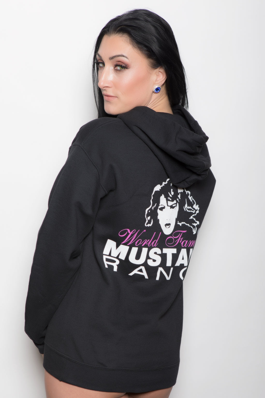 Unisex Pull-over Hoodie with MUSTANG RANCH® Logo