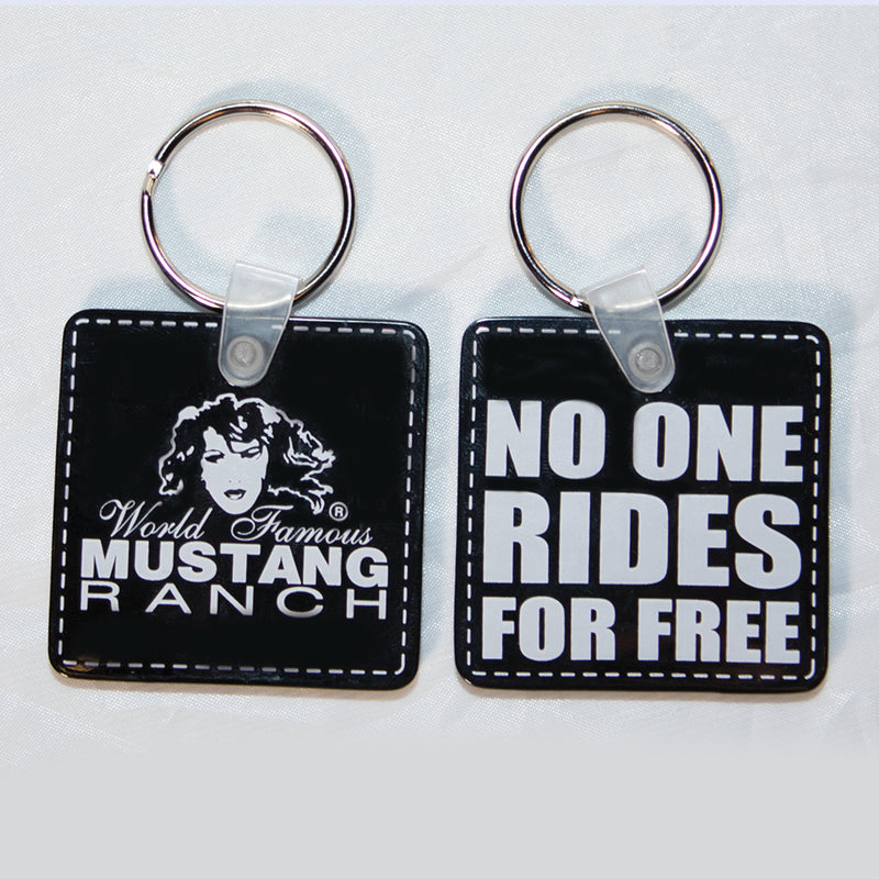 "Key Ring ""NO ONE RIDES FOR FREE"""