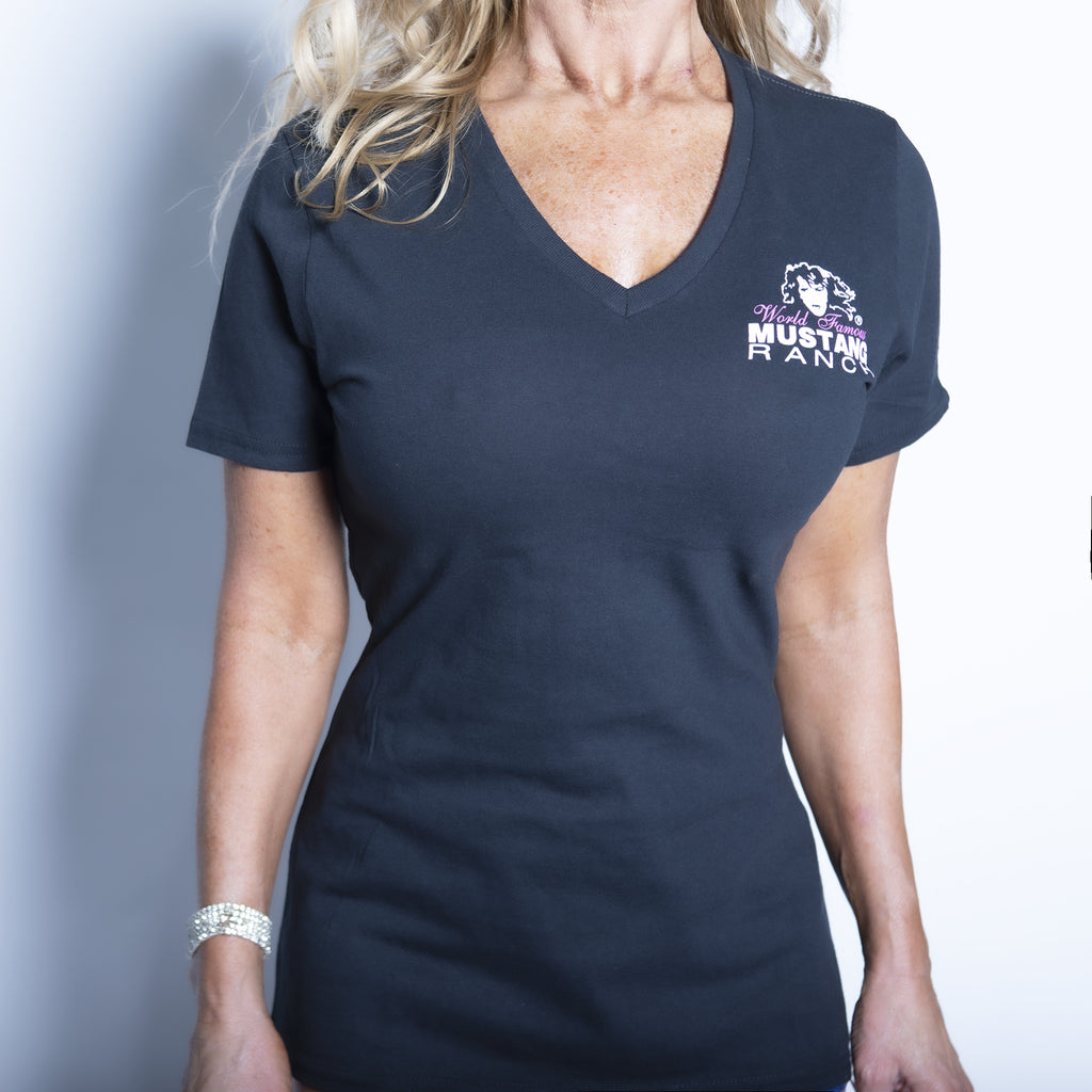 "Ladies ""MUSTANG RANCH®"" V-Neck Tee"