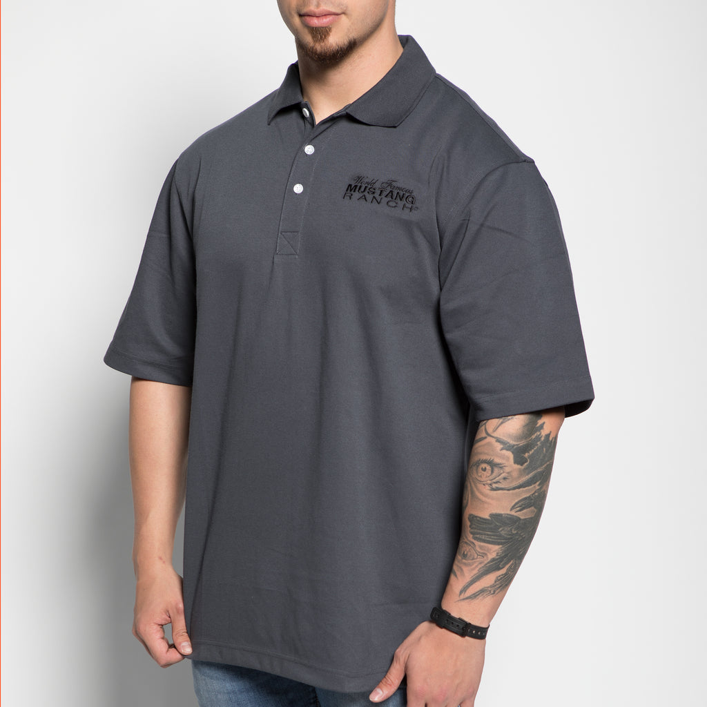 Men's Pique Polo Shirt - Charcoal