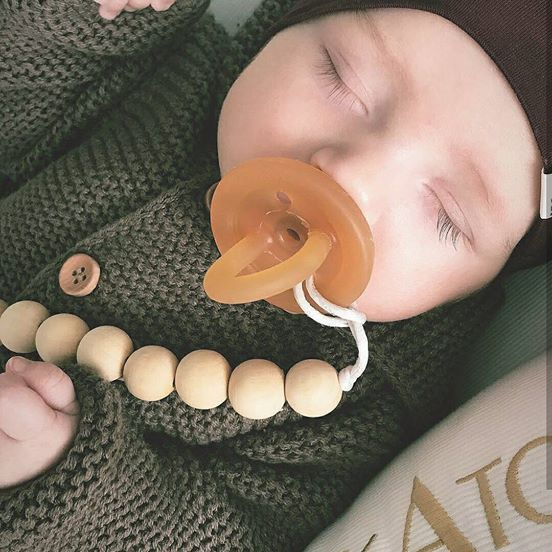 Bare Wood Pacifier Clip