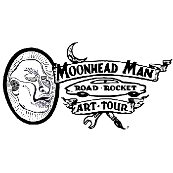 Moonhead Man Road Rocket Art Tour!