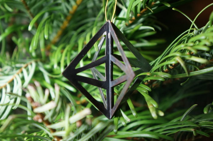 ornament in shape of brand symbol