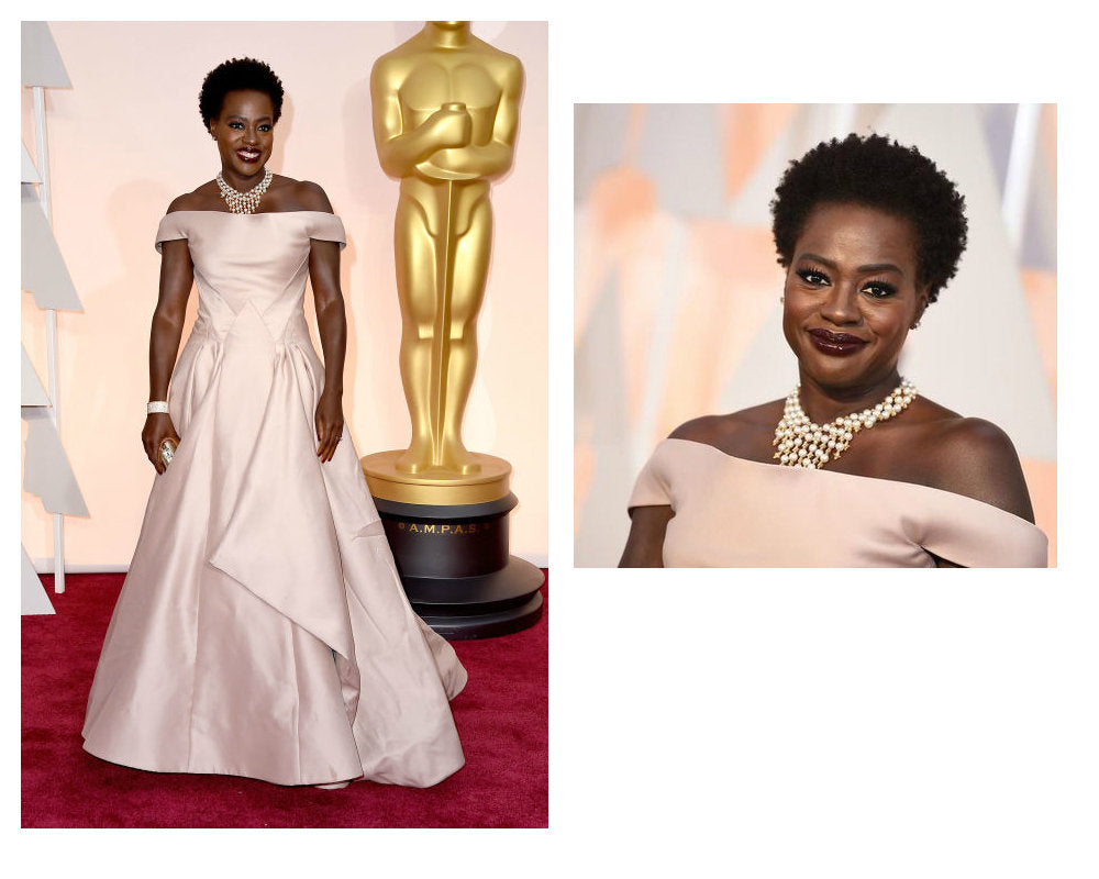 Viola Davis pearl necklace