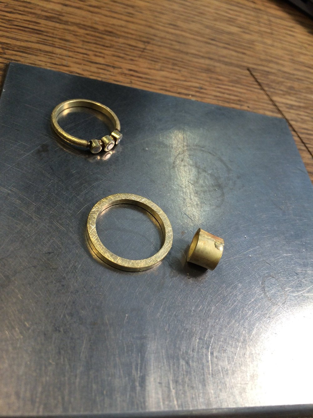 Todd Reed upcycled ring production