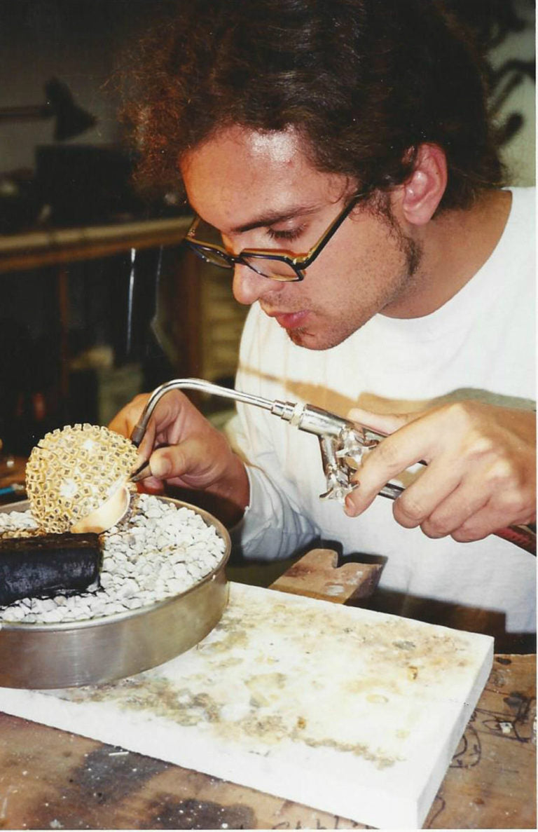 Young Todd Reed producing jewelry