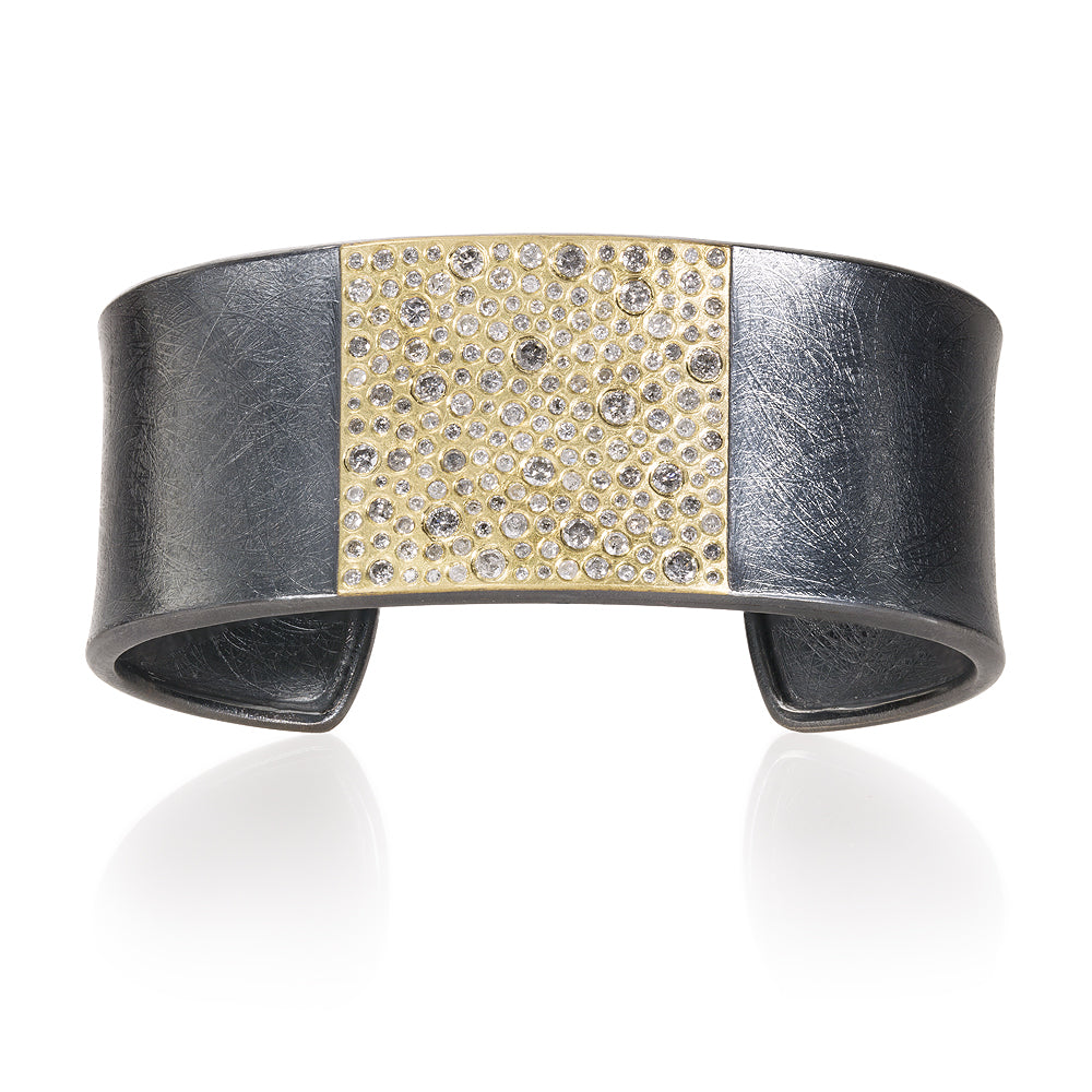 Diamond Cuff Bracelet in Gold and Silver Todd Reed Jewelry TRDB814-18ky