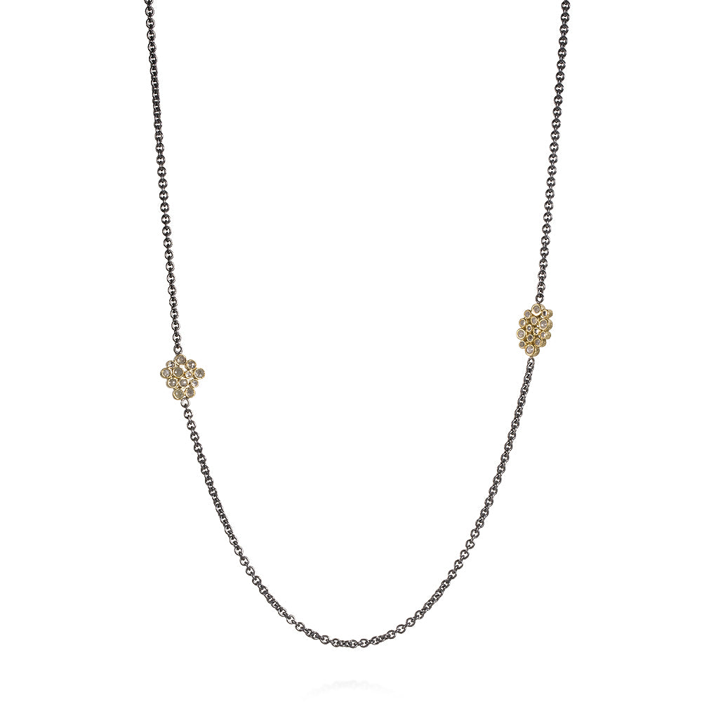 Diamond Station Chain Necklace Todd Reed Jewelry TRDN502-24-SS