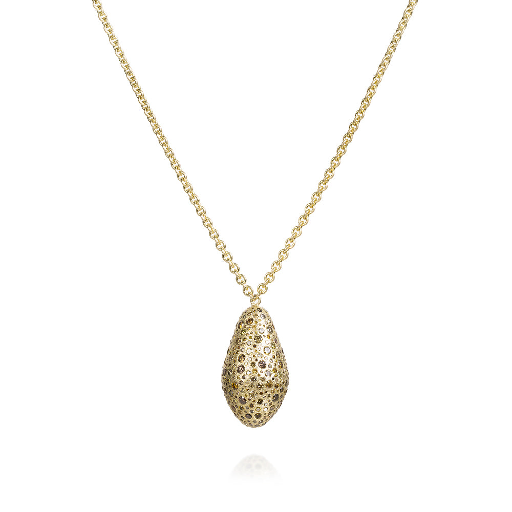 Diamond Pendant Necklace with Autumn Diamonds in Gold Todd Reed Jewelry TRDN890-BEAD
