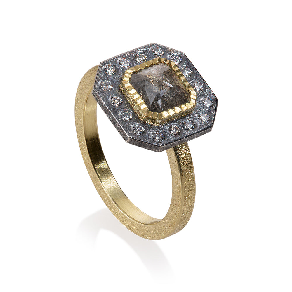 Diamond Ring with Gold Todd Reed Luxury Jewelry TRDR716-S4