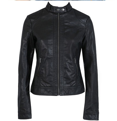 2018 Fashion New Women's Jacket European Fashion Leather Jacket