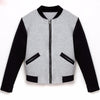 winter Women basic coats bomber jacket Long Sleeve Stand Collar pullover Tops Jacket